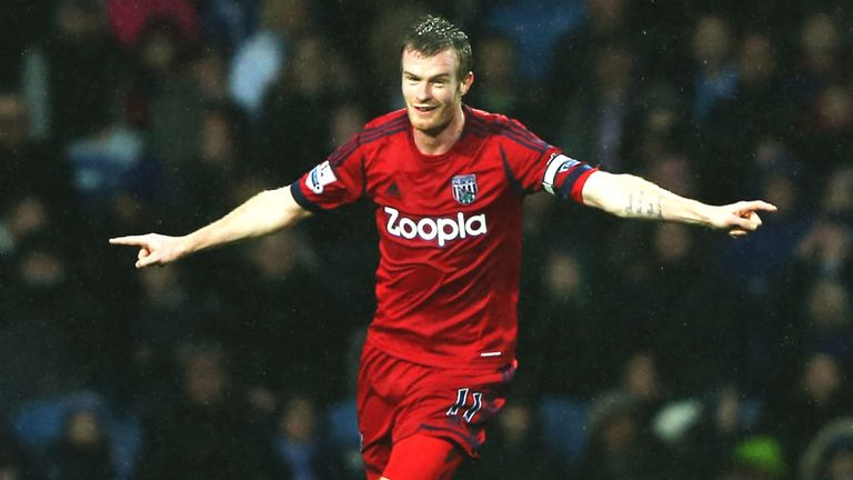 Chris Brunt: West Brom captain set to be absent at the weekend