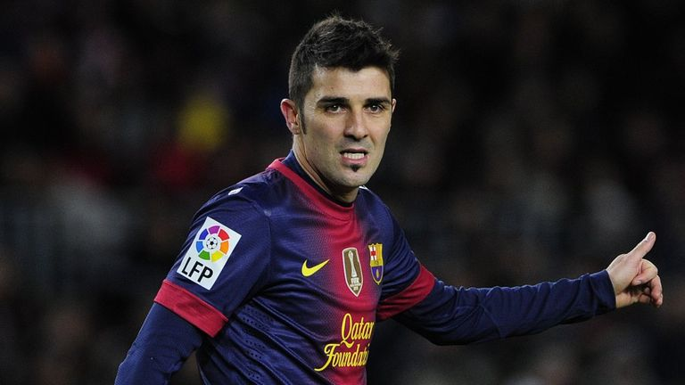 David Villa: Set to stay with La Liga frontrunners Barcelona