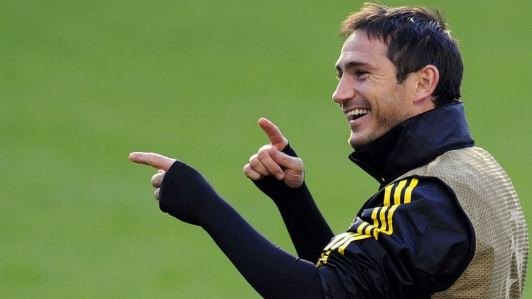 Frank Lampard: Back in training with Chelsea