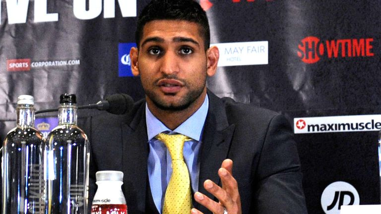 Amir Khan: Expected to offer a much tighter defence in his first fight under new trainer Virgil Hunter