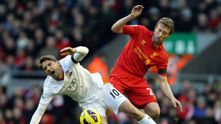 Lucas Leiva: Back in the action against Southampton after three months on the sidelines