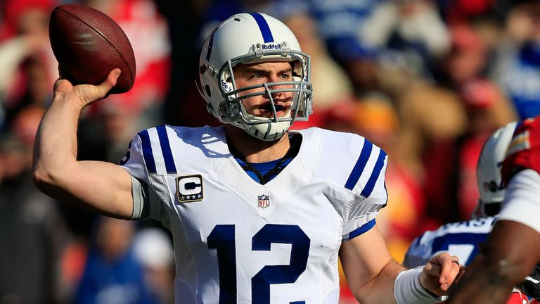 Andrew Luck: broke Cam Newton's single-season rookie record for passing yards