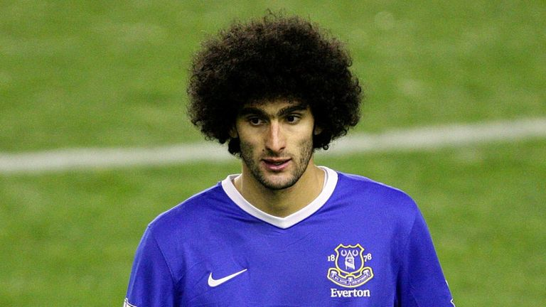 Fellaini: involved in three scraps with Shawcross on Saturday