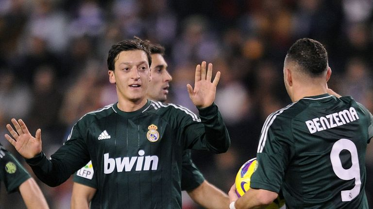 Mesut Ozil bagged a brace in Real Madrid's victory over Valladolid