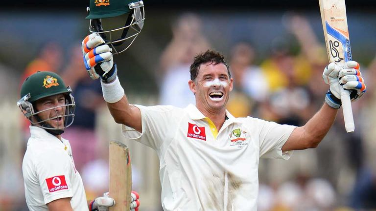 Mike Hussey: Scored his fifth Test century against Sri Lanka