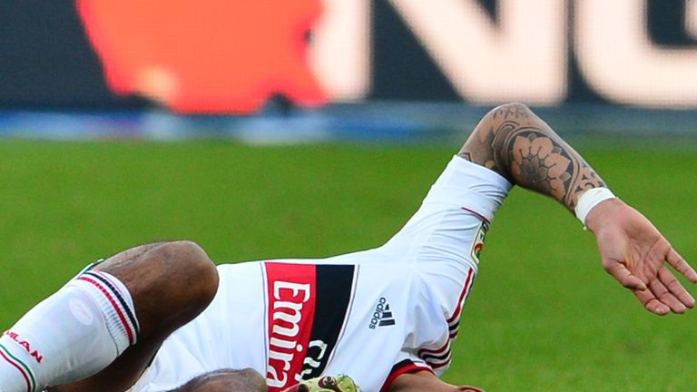 Nigel De Jong: Suffered a ruptured left Achilles during win over Torino