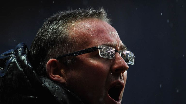 Lambert: had presided over a tough season at Villa Park