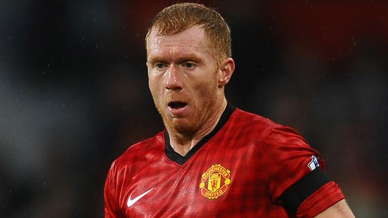 Paul Scholes: Set to fall one game short of 500 Premier League appearances for Manchester United