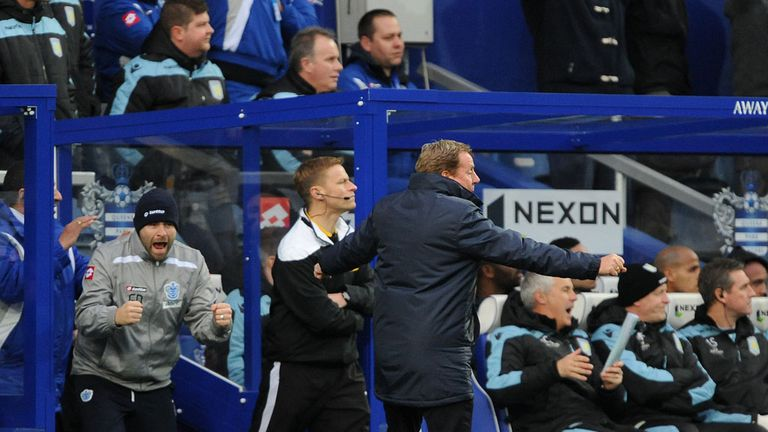 Harry Redknapp: Remaining positive after 1-1 draw with fellow strugglers Aston Villa