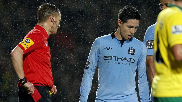 Samir Nasri: Sorry to see Roberto Mancini leave City