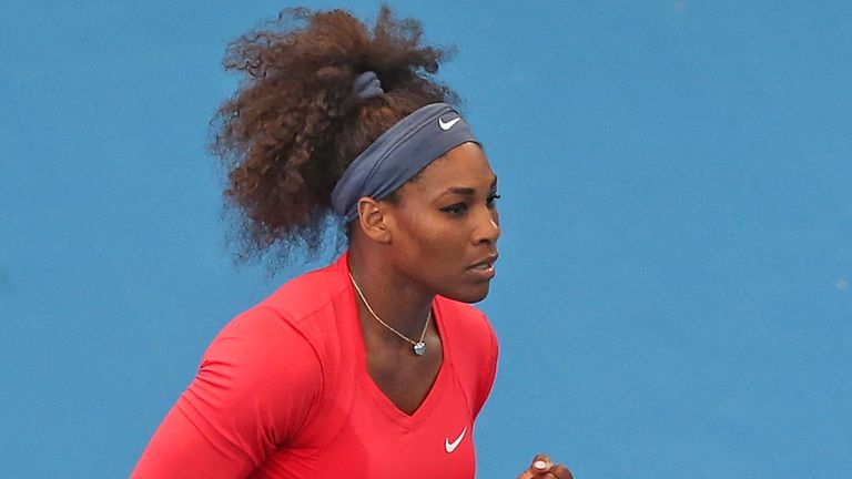 Serena Williams in action in Brisbane as she powered past Varvara Lepchenko