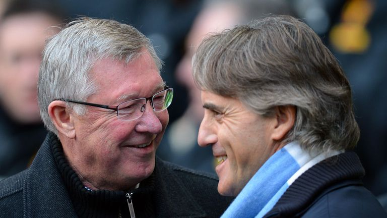 Roberto Mancini: Believes his side are stronger and play better football than Sir Alex Ferguson's Manchester United