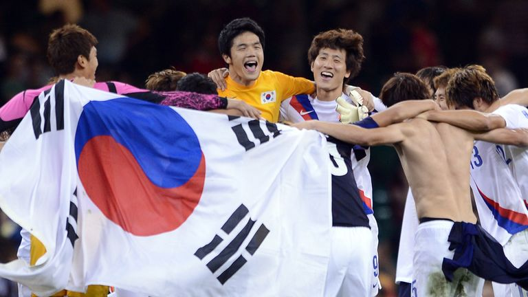 South Korea: Celebrate their victory