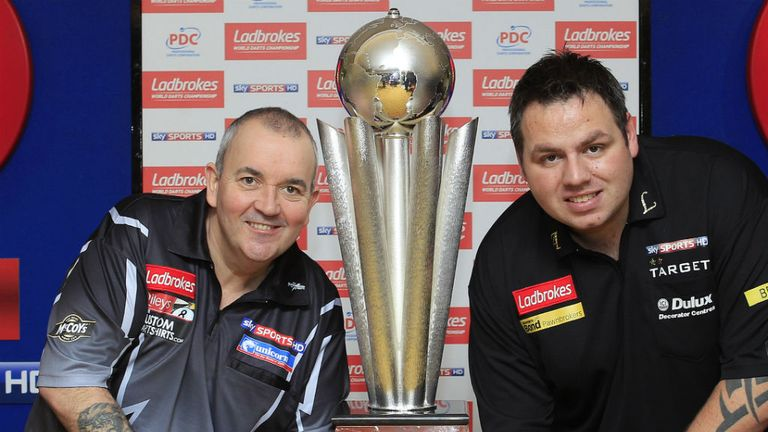 Big guns: Phil Taylor and Adrian Lewis
