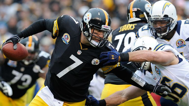 Ben Roethlisberger: endured a tough return to action against the Chargers