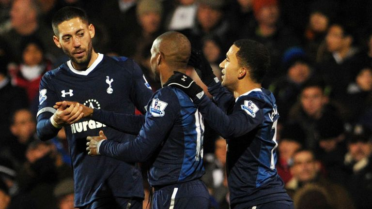 Jermain Defoe: Tottenham striker congratulated after scoring against Fulham