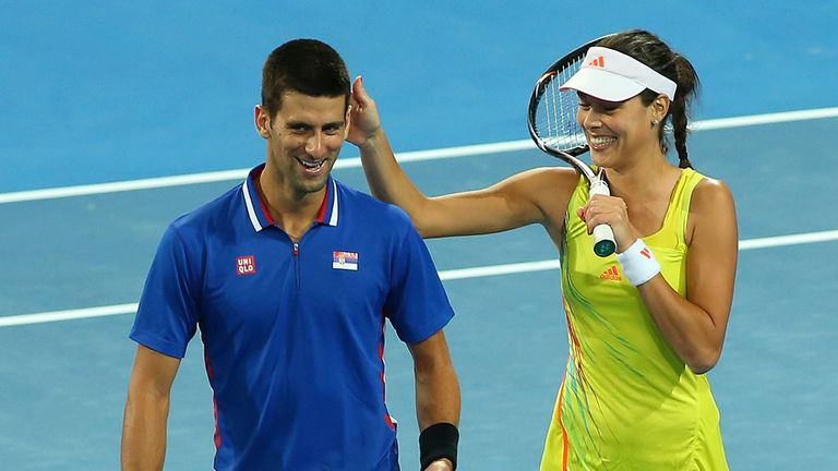 Novak Djokovic and Ana Ivanovic enjoying Hopman Cup in Perth