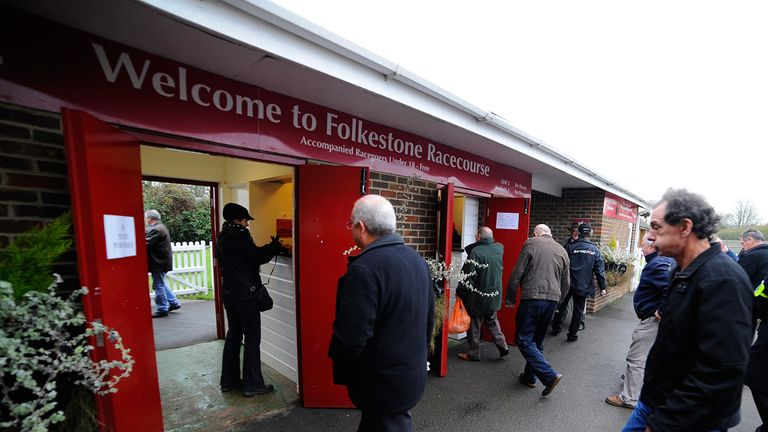 Folkestone: Welcomed racegoers for the final time