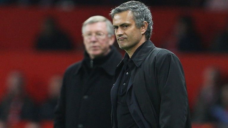 Sir Alex and Jose Mourinho: Pitted against each other in Europe