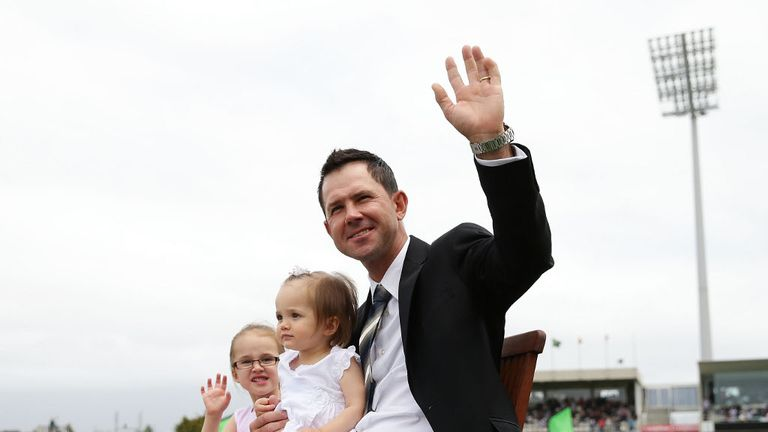 The recently retired Ricky Ponting was in attendance.