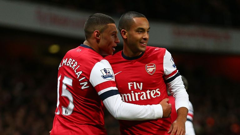 Former Saints Theo Walcott and Alex Oxlade-Chamberlain
