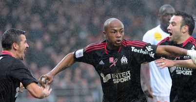 Andre Ayew: Celebrates goal for Marseille