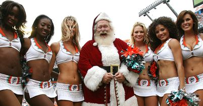 Father Christmas: Proof that he really is a top man