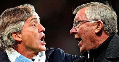 Roberto Mancini: Goes head-to-head with Sir Alex Ferguson on Sunday