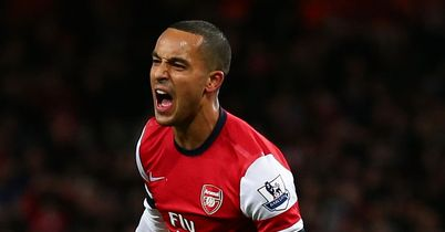 Theo Walcott: Scored hat-trick for Arsenal