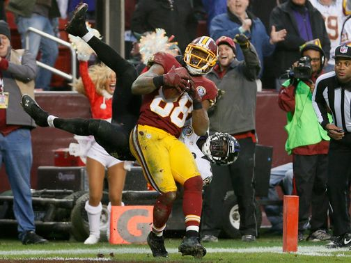 Pierre Garcon: Redskins receiver hauled in a late touchdown catch