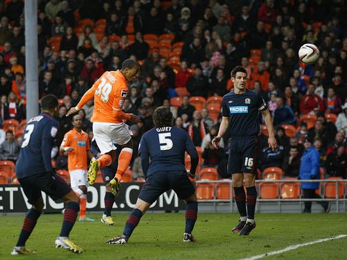 Wes Thomas heads home for Blackpool