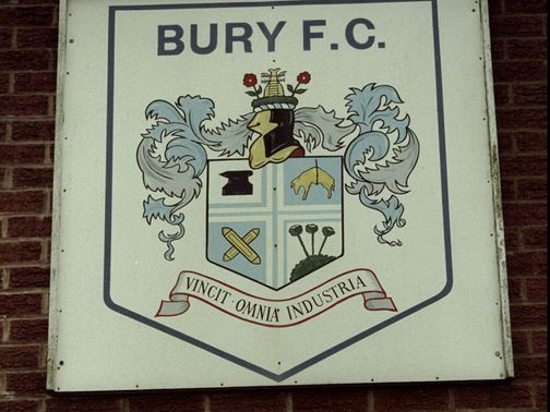 Bury are under an embargo