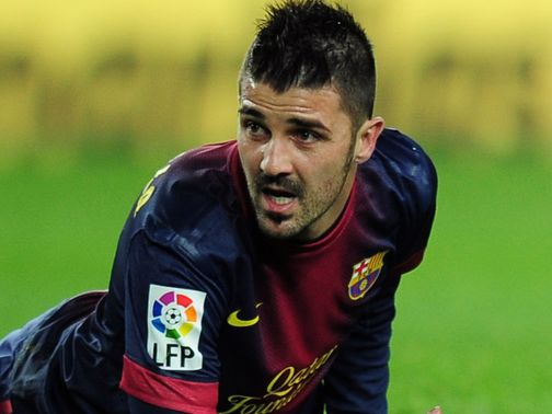 David Villa: Linked with a January exit from Barca