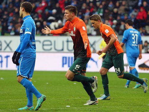 Werder Bremen celebrate.