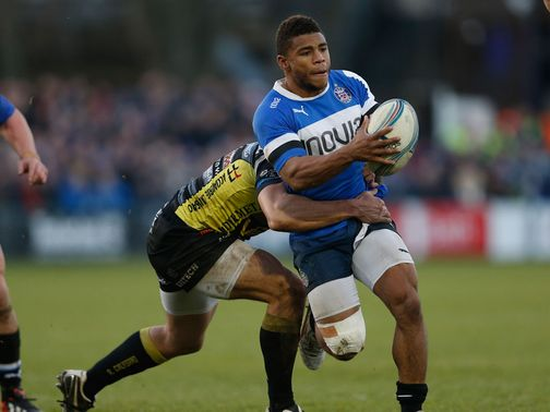 Kyle Eastmond makes some progress for Bath