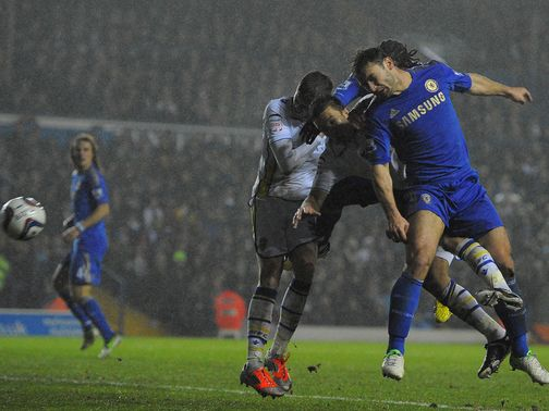 Branislav Ivanovic scores as Chelsea beat Leeds 5-1.