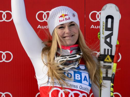 Vonn: Landed the Super-G
