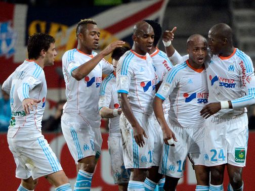 Marseille joined PSG and Lyon at the top