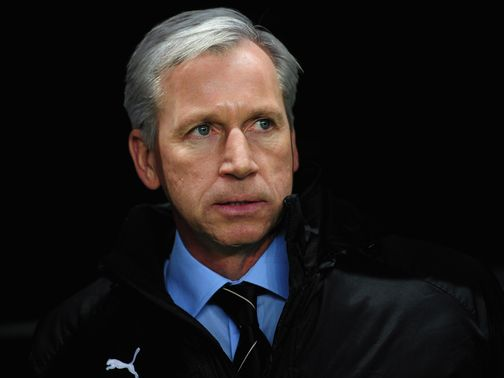Alan Pardew and Co were delayed flying out