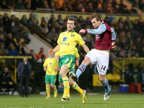 Brett Holman scores a superb equaliser for Aston Villa