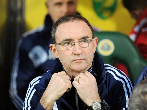 Martin O&#39;Neill: Prepares for tonight&#39;s Reading clash