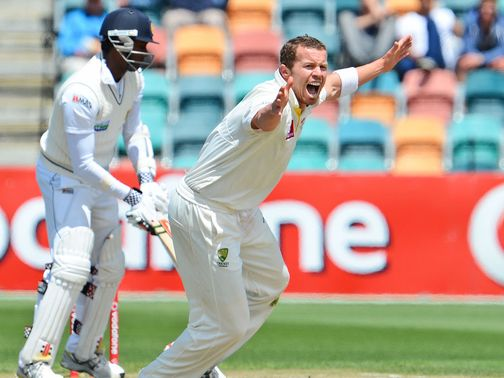 Siddle: Television footage in Hobart