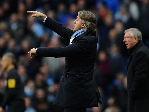 Roberto Mancini: Late Manchester derby defeat