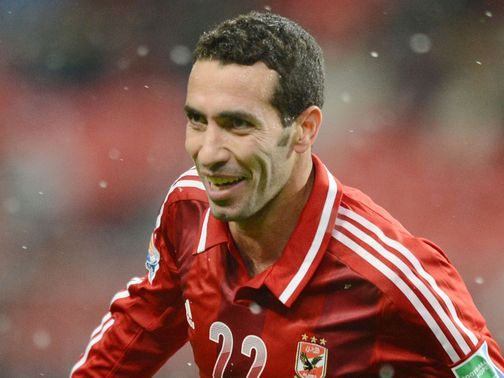 Mohamed Aboutrika celebrates for Al-Ahly