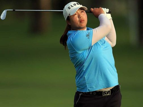 Shanshan Feng: Leads by five shots