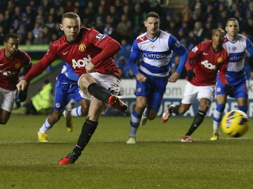 Wayne Rooney scored two goals for United