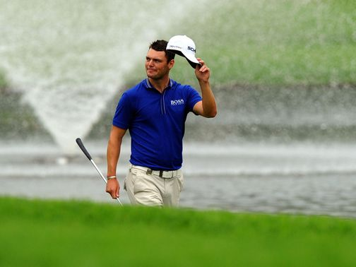 Martin Kaymer celebrates his win in Sun City.