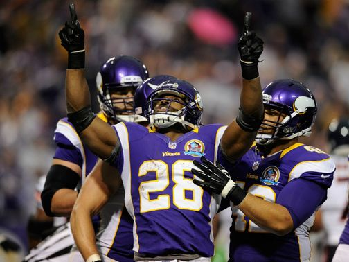 Adrian Peterson: Rushed for 154 yards and two touchdowns