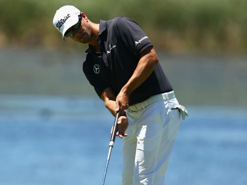 Adam Scott: Used a short putter during practice at the Australian Open