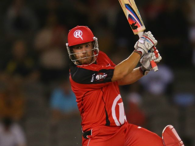 Aaron Finch: Renegades opener finished 46 not out